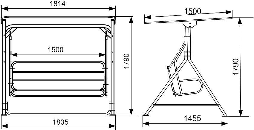 Как сделать садовые качели своими руками из металла чертежи
