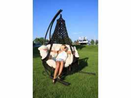 Подвесное кресло качели CARTAGENA (комплект каркас, подушки и кресло)